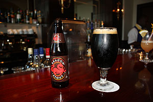 Dragon Stout at the lobby bar