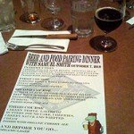 Samuel Smith Beer and Food Pairing Menu