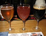 Three Glasses of Tröegs Splinter Beers