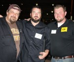 Kev from Winking Lizard, Phil from Bluegrass, and Charlie from Premium