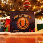 A Christmas tree with the Ohio Craft Brewers pack underneath