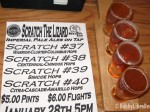 The sampler of four IPAs with the sheet describing each one!
