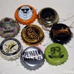 Bottle caps from the Ultimate IPA tasting