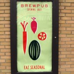 a sign outside the Market Garden Pub